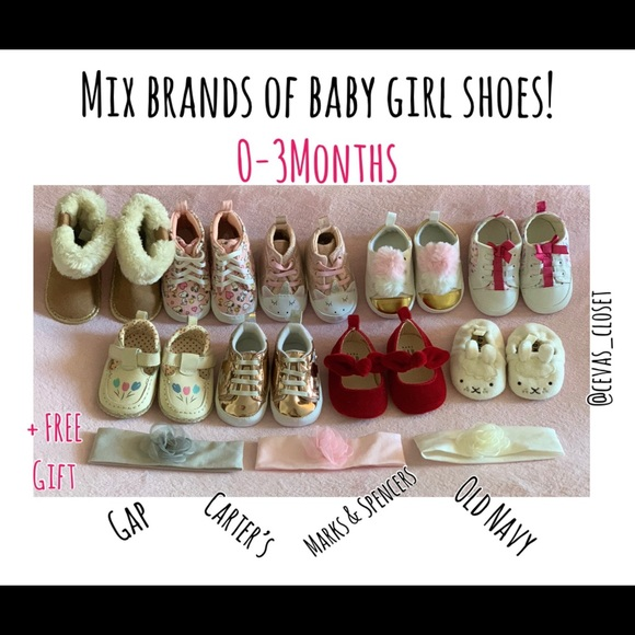 GAP Other - LOT of baby girl mix brands of shoes 0-3 months
